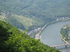 Uitzicht op Bernkastel